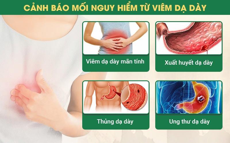 Đau dạ dày có thể mang đến nhiều biến chứng nguy hiểm không thể xem thườn