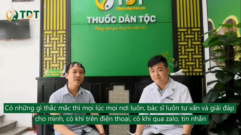 Bệnh nhân Huỳnh Duy Khải chia sẻ khi sử dụng bài thuốc