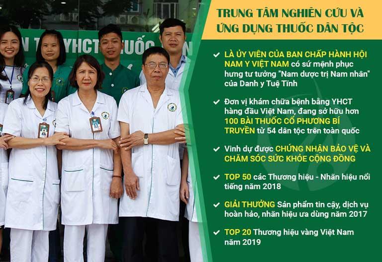 Trung tâm Thuốc dân tộc với đội ngũ chuyên gia tay nghề cao và đạt nhiều giải thưởng thành tựu
